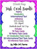 Task Card BUNDLE #3 (Poetry, Vocab, Inform. Text, & Inference) - STAAR Test Prep