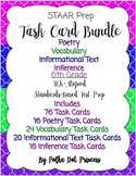 Task Card BUNDLE #3 (Poetry, Vocab, Inform. Text, & Inference) - STAAR Test Prep
