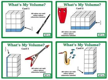 Task Card BUNDLE Finding Volume Prisms Fractional Dimensions 6GA2