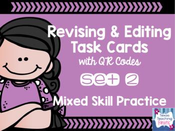 Task Card BUNDLE: Mixed Skill Revising & Editing