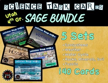 Task Card BUNDLE: Utah 4th Grade SAGE Test Prep