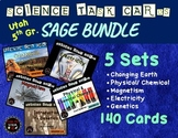 Science Task Card BUNDLE  |  Utah 5th Grade RISE Test Prep | Spiral Review