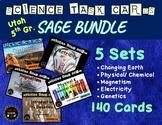 Science Task Card BUNDLE  |  Utah 5th Grade RISE Test Prep | Spiral Review