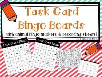 Task Card Bingo