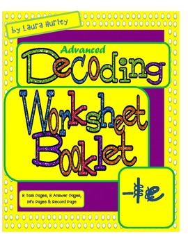 "Advanced Decoding Task Card Booklet ""-LE"""