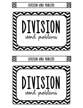 Task Card Box Label Black and White ONLY