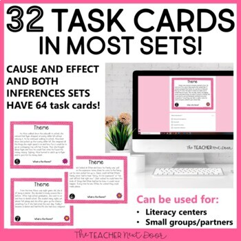 Reading Task Card Bundle   Reading Games  