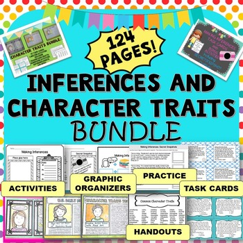 Inference Task Cards and Character Traits Task Cards, Activities, and Printables