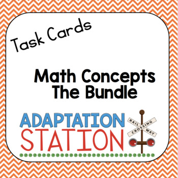 Math Concepts Task Card Bundle