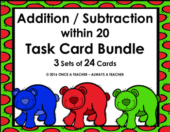 Task Card Bundle - Addition and Subtraction within 20