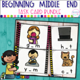 Beginning, Middle, Ending Sounds- Task Card Bundle
