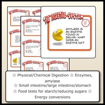 Task Card Bundle: Circulatory System, Digestion, Plant Life Cycle