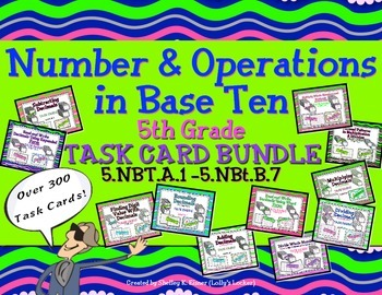 Task Card Bundle Common Core Grade 5 Number and Operations
