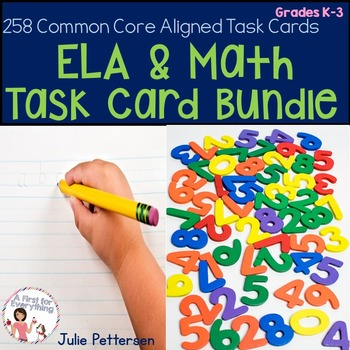 ELA and Math Task Card Bundle