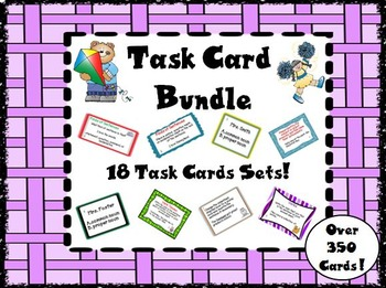 Task Card Bundle English Language Arts Skills
