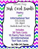 Task Card BUNDLE #1 (Poetry and Informational [Expository] Text) - STAAR Prep