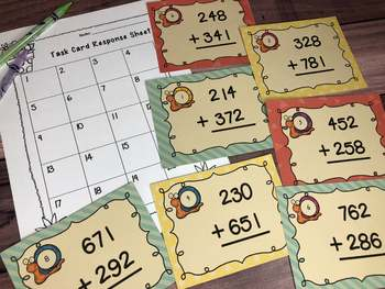 Math Task Card Bundle: for the Primary Grades