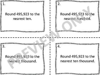 Task Card Bundle for 4th Grade - Common Core 4.NBT.A.1-3