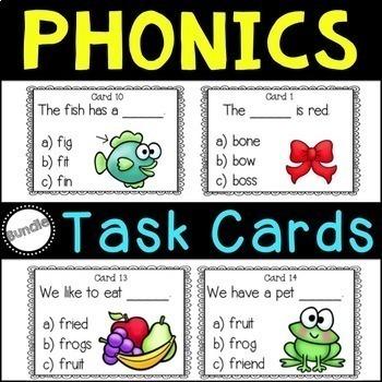 Phonics Task Card Bundle