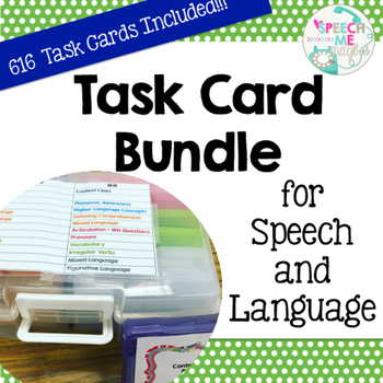 Task Card Bundle for Speech and Language