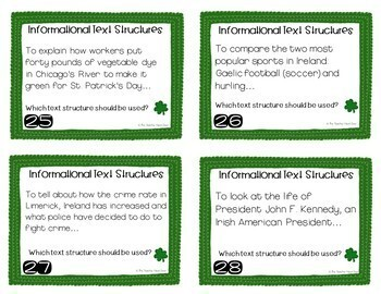 Task Card Bundle for St. Patrick's Day: 3rd - 5th Grade