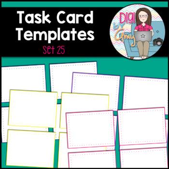 Task Card Templates Clip Art SET 25