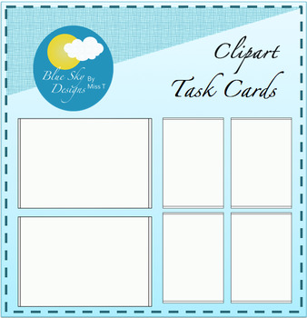 Task Card Clipart Templates Set