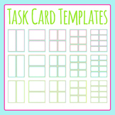 Task Card Color Templates / Flash Card Templates Clip Art Set for Commercial Use