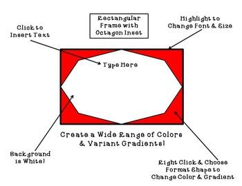 Task Card Creation Templates and Border Frames