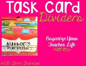 Task Card Dividers