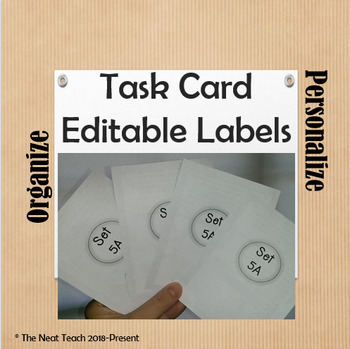 Task Card Editable Labels