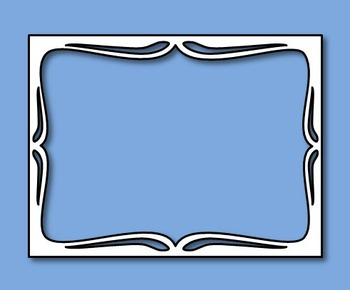 Task Card Frame Templates - Four Free Samplers {Commercial Use Okay}