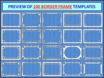 Task Card Frame Templates - MEGA PACK - 200 Templates {Commercial Use Okay}