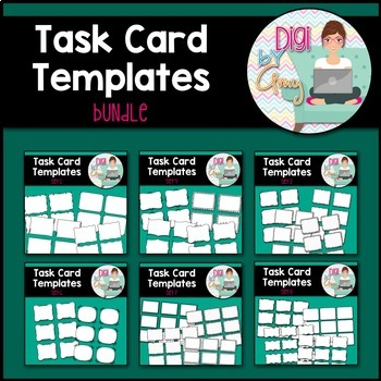 Task Card Clip Art Templates - BUNDLE