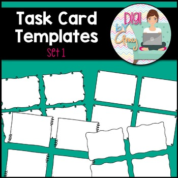 Task Card Templates clipart - SET 1
