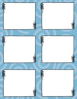Task Card Clip Art Templates - SET 2