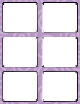 Task Card Templates Clip Art SET 2