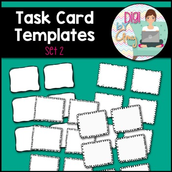 Task Card Templates clipart - SET 2