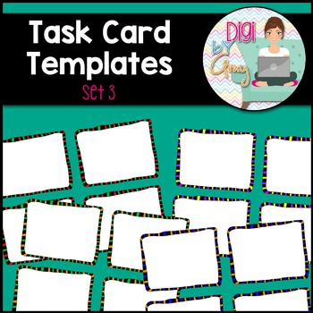 Task Card Templates clipart - SET 3