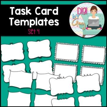 Task Card Clip Art Templates - SET 4