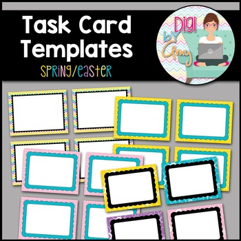 Task Card Templates Clip Art Spring Easter