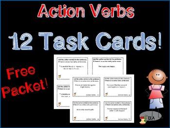 Task Card Freebie!  Action Verbs