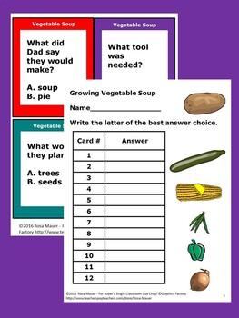 Growing Vegetable Soup Literacy Activities