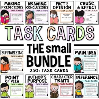 Reading Strategies Task Card Bundle - Over 250 cards for C