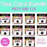 First Grade Task Card Bundle Distance Learning