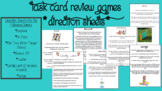 Task Card Game Direction Sheets