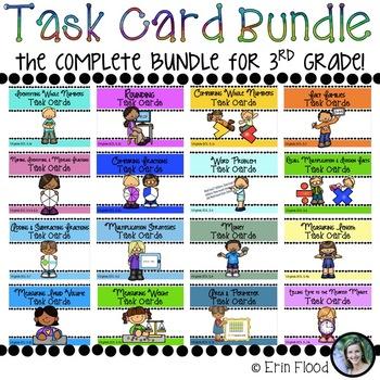 Task Card Math Bundle - Complete Bundle for 3rd Grade