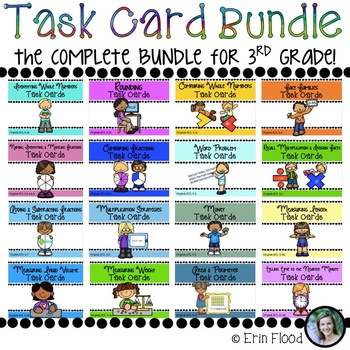 Task Card Math Bundle - Complete Bundle for 3rd Grade