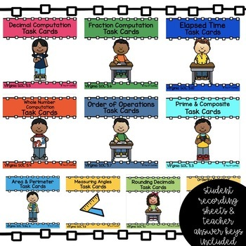 Task Card Math Bundle - Complete Bundle for 5th Grade