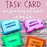 Task Card Storage Organization Labels (Fits into 4x6 Photo Case) *EDITABLE!*